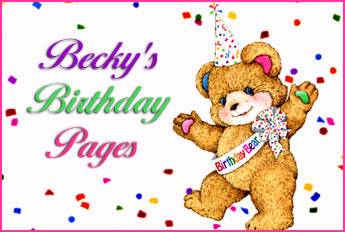 Becky's Birthday Pages